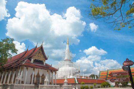 NAKORN SRI THAMMARAT, THAILAND : October 15, 2018 - Phra Baromathat Chedi in Nakorn Sri Thammarat, Thailand.