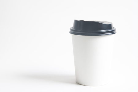 To go cup of hot drink mock up for branding on white background