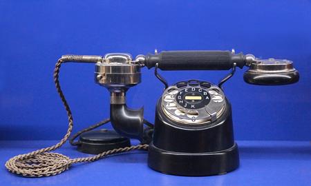retro cow foot telephone from 1925 Standard-Bild - 116278902