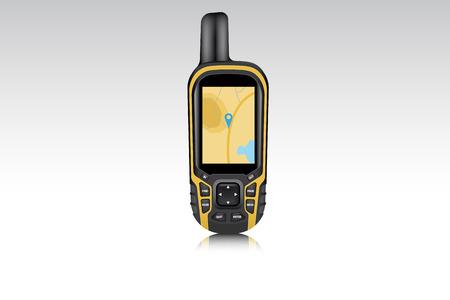 Dispositivo de navegación gps realista para viajeros y cazadores. Ilustración vectorial Ilustración de vector