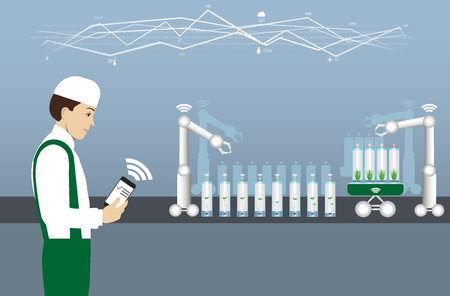Laboratory for plant breeding and cultivation. Internet of things in agriculture.