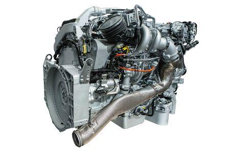 Diesel engine isolated on white background Zdjęcie Seryjne