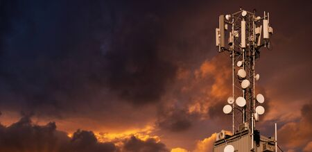 5G network transmitters Stock Photo