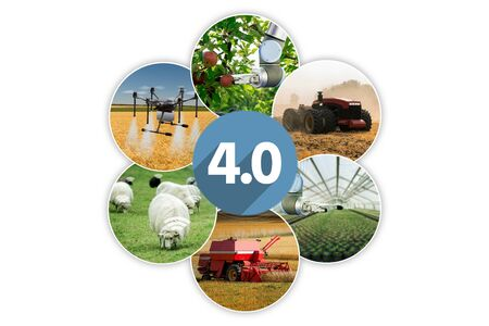 Agriculture 4.0 concept Stok Fotoğraf
