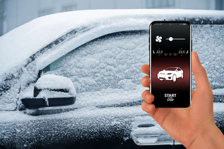 Application for remote engine start and car warm-up