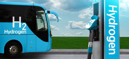 Tourist bus on hydrogen fuel