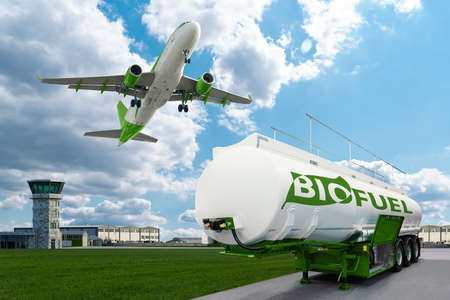 Airplane and bioguel tank