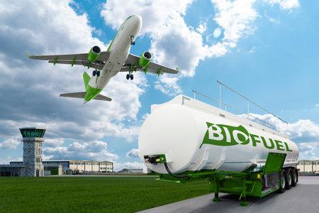 Airplane and bioguel tank
