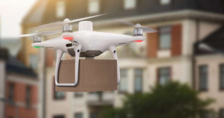 Drone with a package