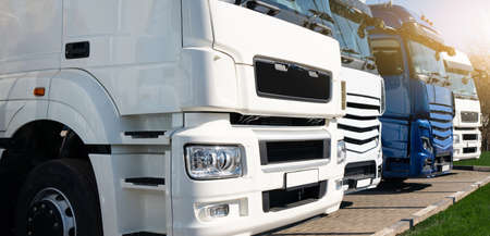Truck fleet at the logistics center