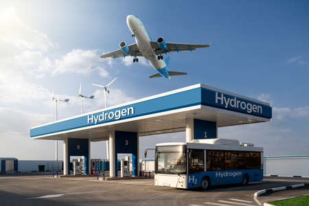 Hydrogen bus and airplane