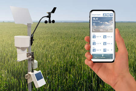 Farmer control weather station via mobile app