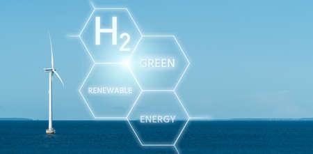 Green hydrogen from renewable energy sources Standard-Bild