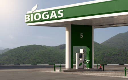 Biogas filling station Standard-Bild