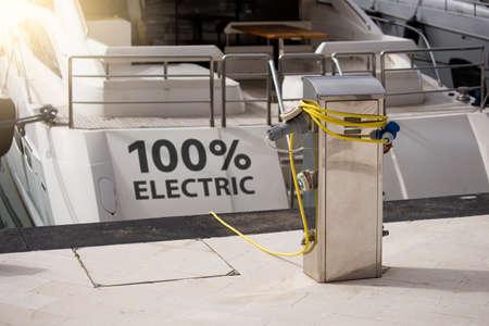 Electric yacht concept Standard-Bild