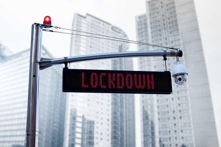 Information board LOCKDOWN