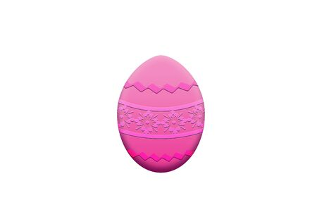 one pink easter eggs with drawings of flowers and greeks