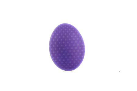 purple easter egg with white dots, with free background for writing or applying images