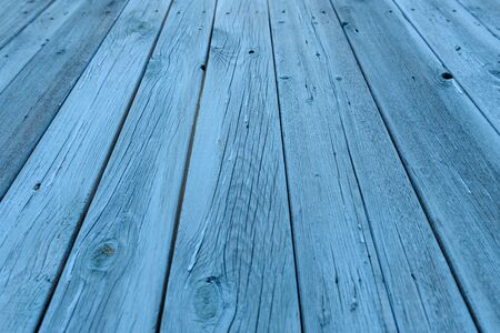 Blue wooden background, old age effect. Old boards painted light blue, close-up. 版權商用圖片 - 149250724