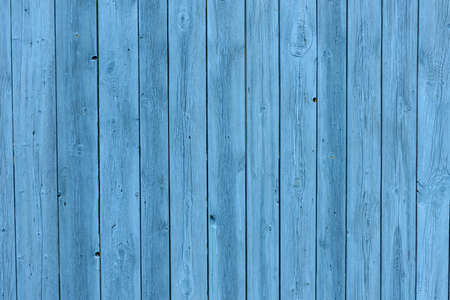 Blue wooden background, old age effect. Old boards painted light blue, close-up. 版權商用圖片
