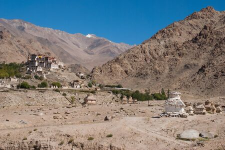 landscape and view of lamayuru monastery