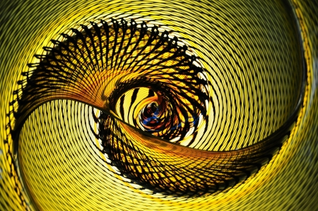 abstract spiral glass photo