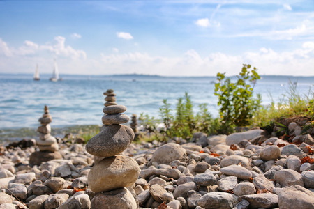 Stones stacked on top of each other Stock Photo