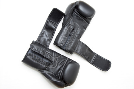 gloves and belt kickboxing. Stock Photo