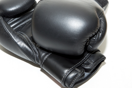 gloves and belt kickboxing Stock Photo