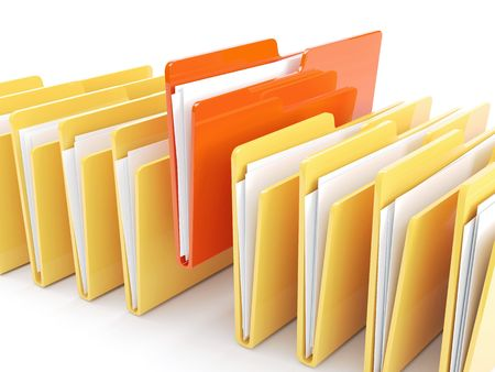 folder with documents: Folder icon ( 3d render) More Variations In My Portfolio