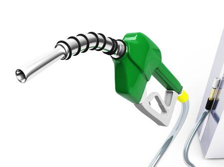 pompe: Isolato Green Gas Pump Nozzle