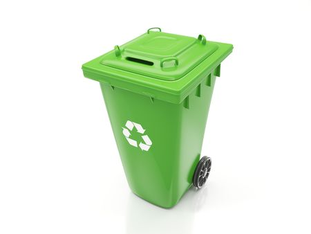 Isolated Recycling Container Stock Photo