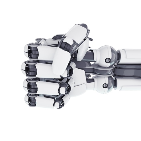Isolated robotic fist on white background Stock Photo - 17545971