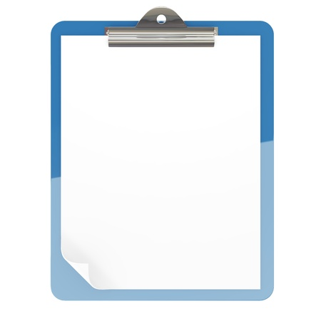 Isolated paper pad holder on white background Stock Photo