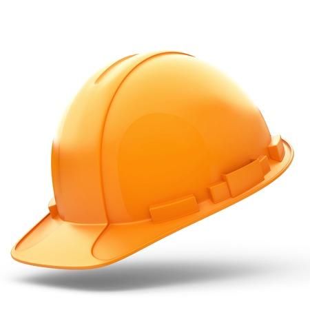 Isolated Orange Helmet for Builder on White Background