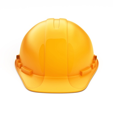 Isolated Orange Helmet for Builder on White Background Stock Photo - 17906301
