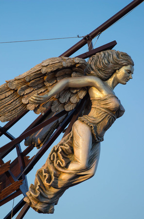 Wooden Figurehead on the broken ship