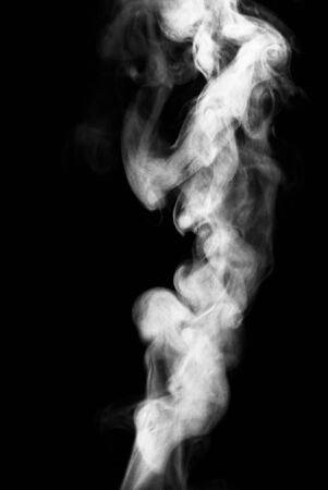 abstract swirls: White  cloud Smoke isolated on black background
