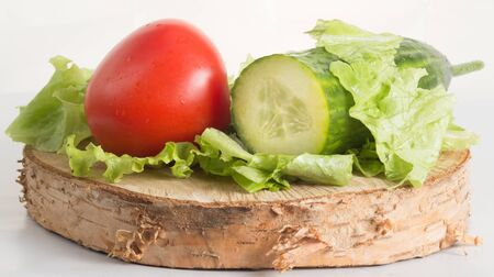 organically: The composition of organically grown vegetables with white background