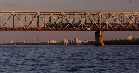 dniper: bridge over Dniper river, Cherkassy.