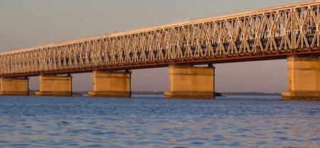 bridge over Dniper river, Cherkassy.