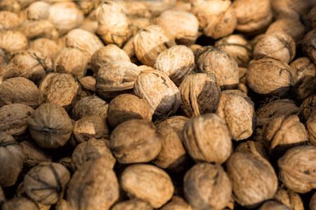 circassian: The Circassian walnut texture. Background of walnuts