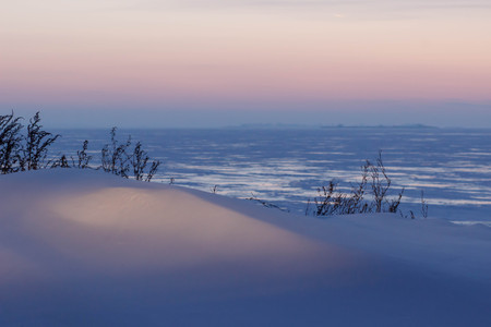 winter sunset background blur Stock Photo