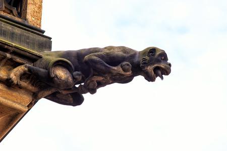 Gothic style Gargoyle on St Vitus Cathedral Prague