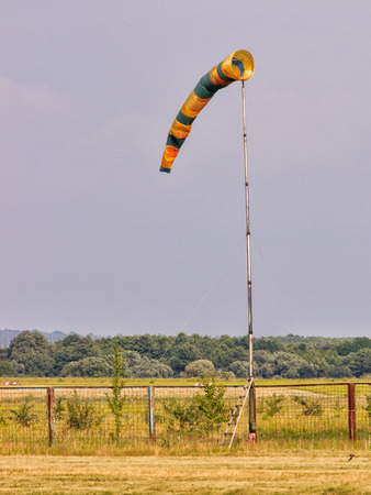 airstrip: Windsock is indicator for wind direction
