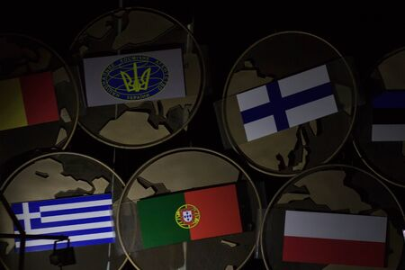 World flags,little flags of different countries
