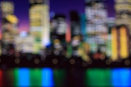 Blurred sky night city background