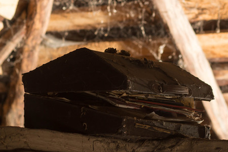 old chest in the attic