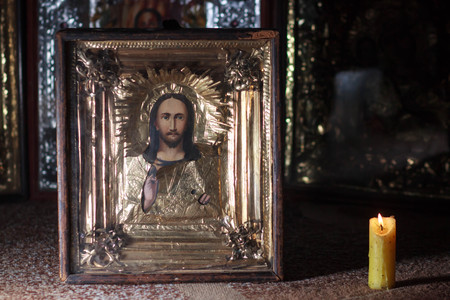 photo of orthodox holy painting called icon