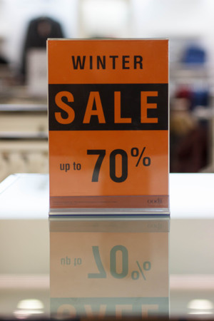 Winter sale.Find the bargain 70% Stock Photo